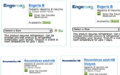 Vaccines sold online