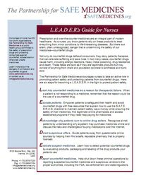 CLICK TO DOWNLOAD THE LEADERS GUIDE FOR NURSES