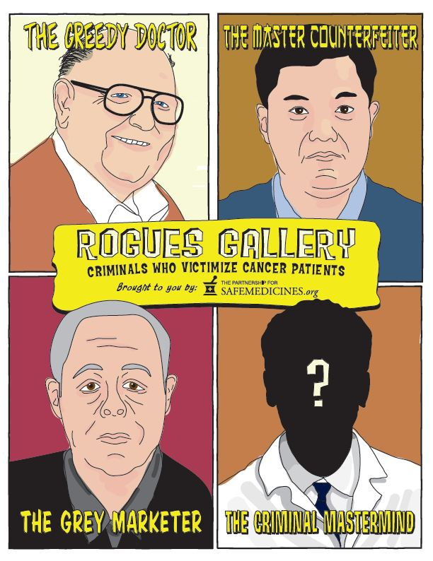 Download the Rogues Gallery: Criminals Who Victimize Cancer Patients comics here.