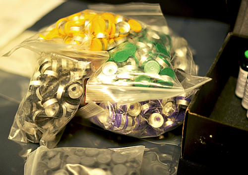 RCMP Photo of pill press components